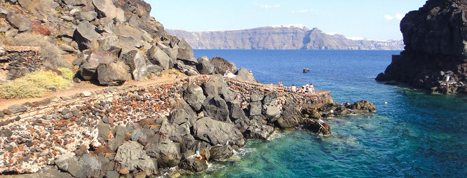 Spiaggia Amoudi Bay Santorini