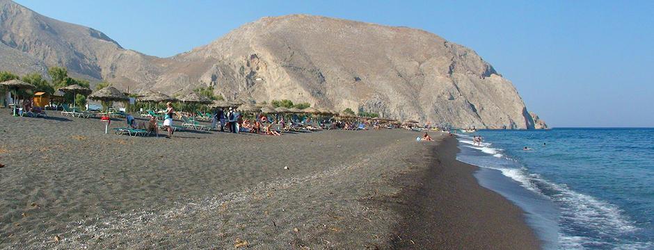 Villaggio di Perissa a Santorini