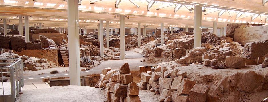 Sito archeologico di Akrotiri a Santorini